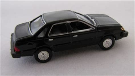 black ford tempo ho scale diecast car 1984 ford tempo black item