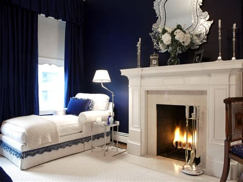 navy blue and white bedroom navy blue bedroom with white fireplace and chaise lounge