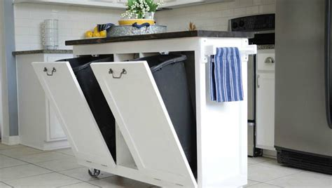kitchen kitchen cart  trash bin   life easier   comfortable