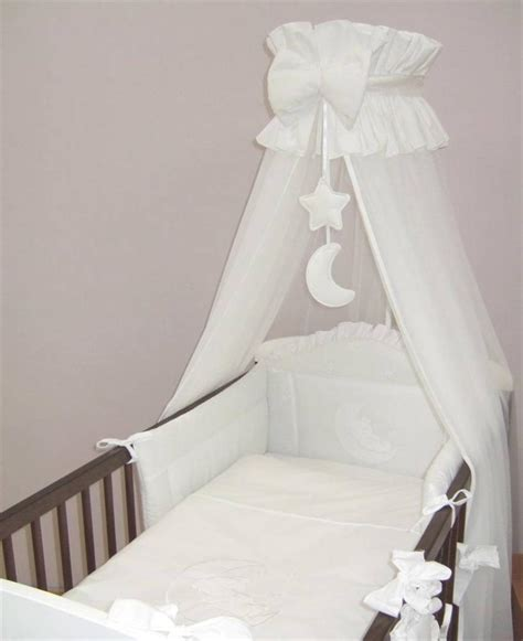 decorative canopy crown cot canopy drape net with decorative bow moon