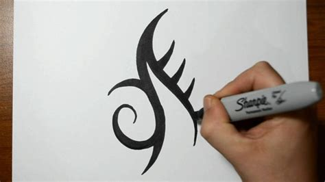 how to draw a tribal tattoo design how to draw a simple tribal design
