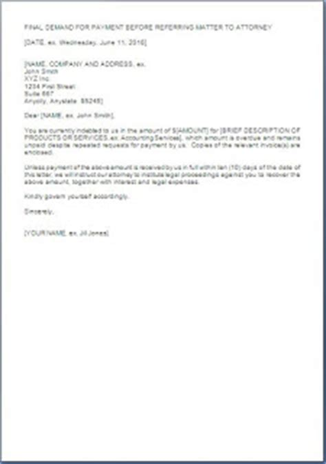 Institute Of Letter Of Demand Demand Letter Before