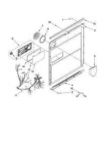 Kitchenaid Dishwasher Manual Lock Door And Latch Parts Diagram Parts List For Model