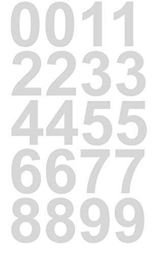 12 Inch Vinyl Numbers by Reflective Sheet Of 1 1 2 Inch White Numbers Vinyl