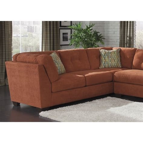 delta furniture sectional ashley delta city 3 piece fabric full sleeper sectional in