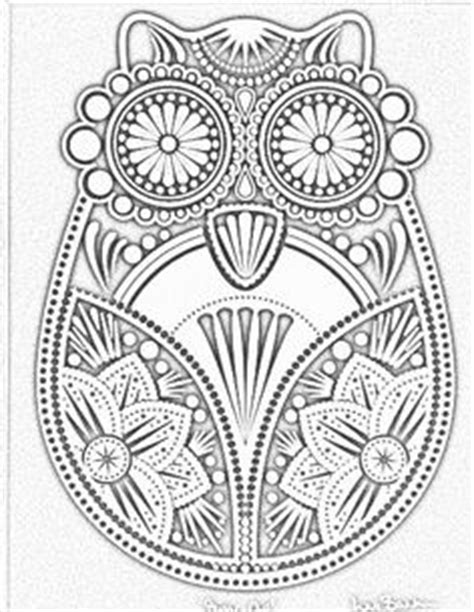 intricate owl coloring pages zentangling on pinterest dover publications coloring