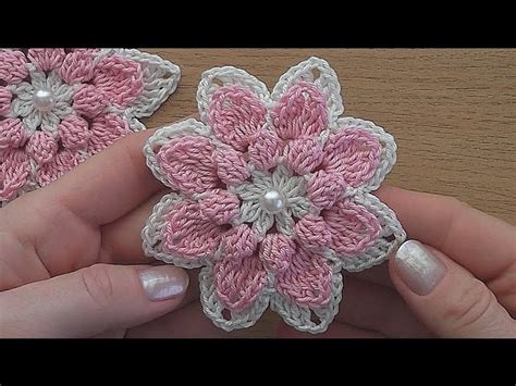 crochet pattern flower youtube crochet flower tutorial very easy my crafts and diy projects