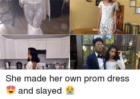 Black Girl Wedding Dress Meme - she made her own prom dress and slayed dress meme on