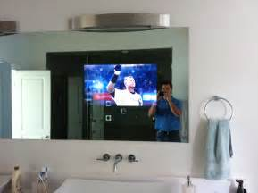 tv in the mirror bathroom nc bathroom tv installation home theater solutions