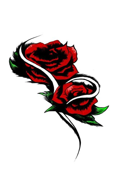 rose tattoo clipart designs clipart best