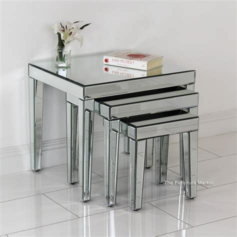 mirrored nest of tables contemporary interiors archives the furniture market
