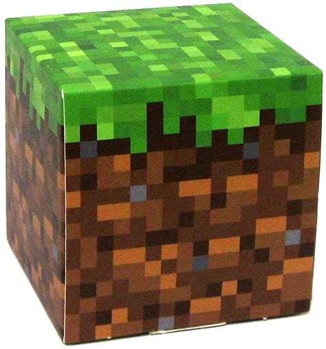 Minecraft Papercraft Grass Block - minecraft grass block papercraft on sale at toywiz