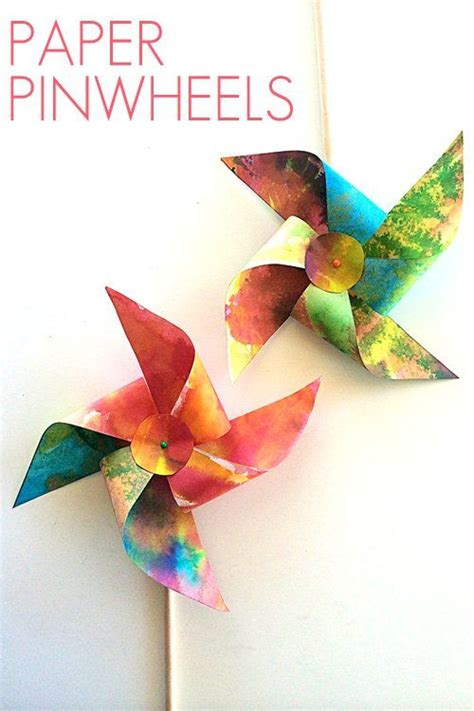 How To Make Paper Pinwheels - how to make paper pinwheels