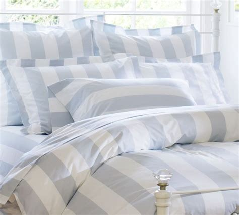 blue and white striped comforter pb classic stripe 400 thread count duvet cover sham porcelain blue traditional bedding