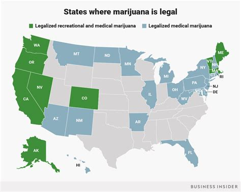 states with legal weed this map shows every state that has legalized marijuana