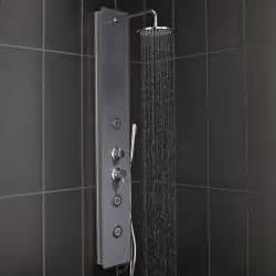 colonne de hydromassante avec robinetterie gris
