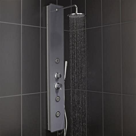 colonne docce colonne de hydromassante avec robinetterie gris