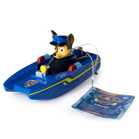can paw patrol boat go in water paw patrol bath paddling pup boat chase
