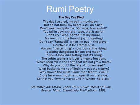 best rumi poems sufism islamic mysticism ppt