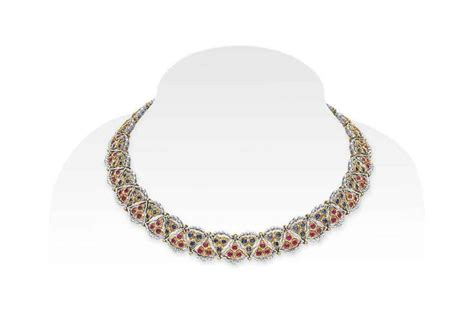 Terlaris Christie Ac 2667 Sapphire Gold White a ruby sapphire and gold necklace by buccellati designed