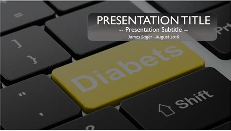 free diabetes powerpoint template 10097 sagefox