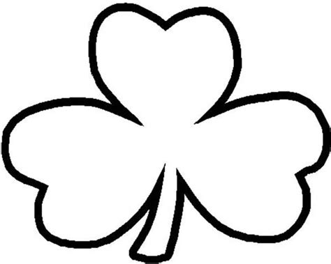 Three Leaf Clover Coloring Page 3 leaf clover outline clipart best