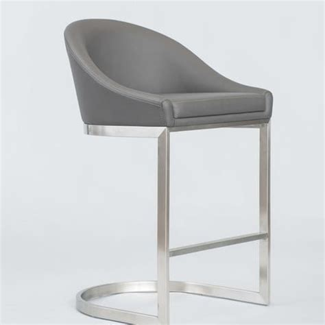 Alfa Bar Stools by Matrix Imports Otus Non Swivel Stainless Low Back Stool
