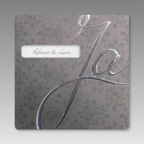 Hochzeitseinladung Ja by Elegante Hochzeitseinladung Mit Gro 223 Em Ja