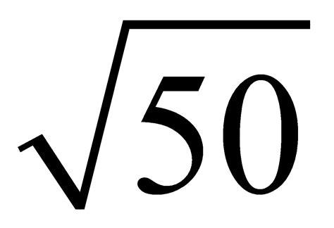 raiz cuadrada de 50 mates potencias y raiz cuadrada