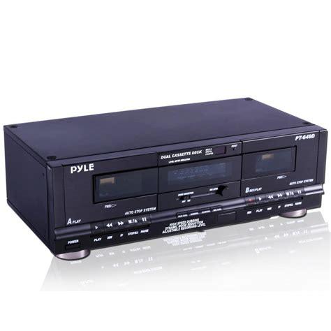 cassette deck pylehome rbpt649d dual cassette deck