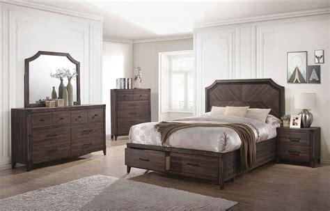 richmond bedroom set richmond 6 piece bedroom set in dark grey oak finish by coaster nurse resume