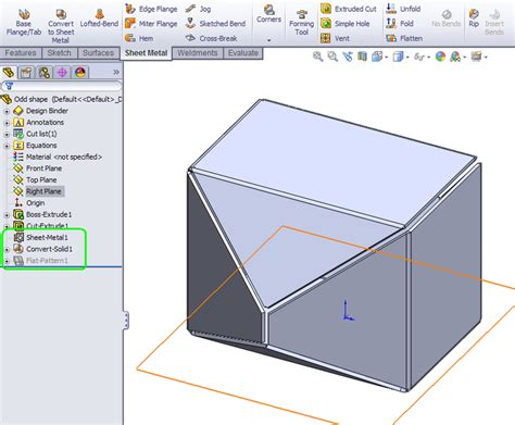 pattern sheet metal solidworks how to convert a solid to sheet metal in solidworks grabcad