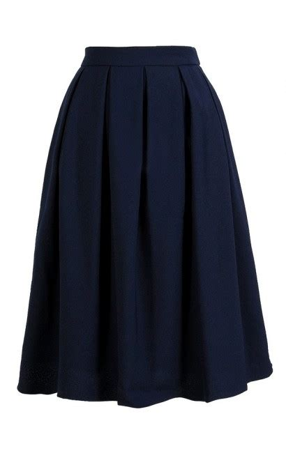 boutique navy a line skirt navy pleated a line skirt