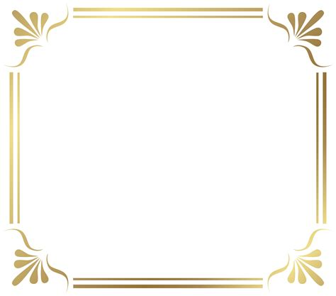 Border Gold photo frame border png frames pictures design gt source
