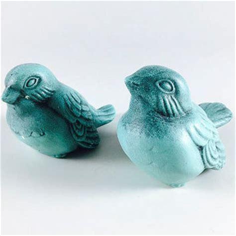 vintage bird figurines set of 2 mid century japan norcrest best vintage turquoise pottery products on wanelo