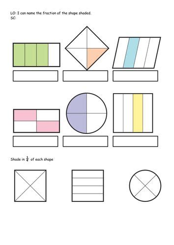 continuing patterns ks1 shape fractions of shapes ks1 number names worksheets