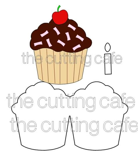 the cutting cafe cupcake shaped card