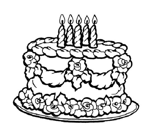 chocolate cake coloring page netart 1 place for coloring for kids part 4