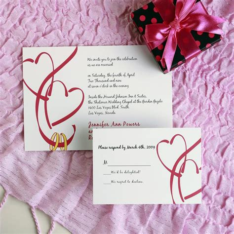 wedding invitations with hearts hearts wedding invitations ewi028 as low as