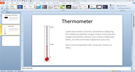 thermometer template powerpoint how to make a fundraising thermometer for powerpoint