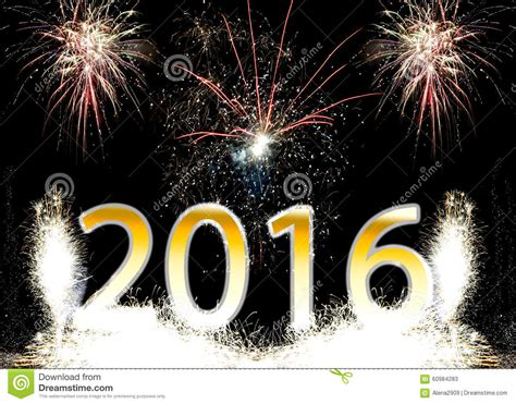 new year fireworks time happy new year 2016 fireworks stock photo image 60984283