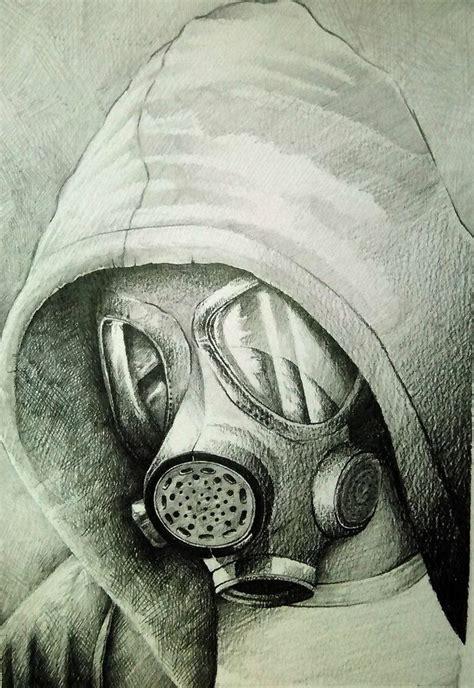 mask gas por shiralee retratos dibujandonet dibujos