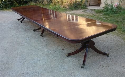 dining table antique pedestal dining table styles room very large antique three pedestal dining table made of the