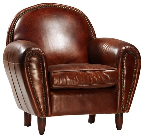 Club Armchair Leather by Shop Houzz Design Mix Furniture Brown Leather Club Chair