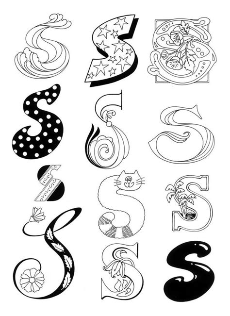 different letter styles 300 best images about s on s alphabet punto 1187