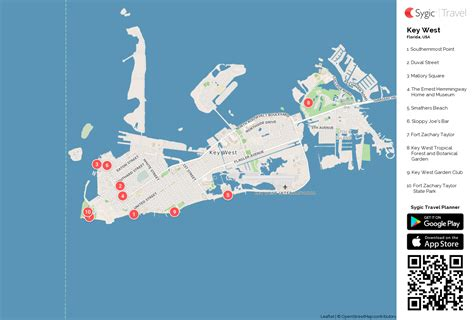 printable map key west key west printable tourist map sygic travel