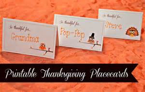 printable thanksgiving placecards