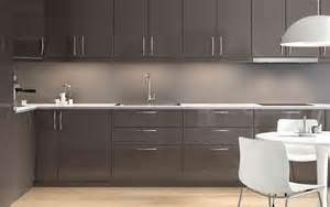 High Gloss Grey Kitchen Cabinets Modern High Gloss Grey Ikea Kitchen With Light Worktops