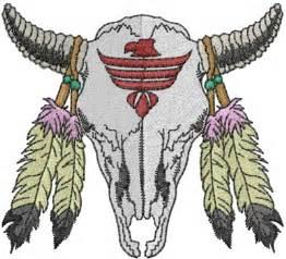 native american skull embroidery design annthegran