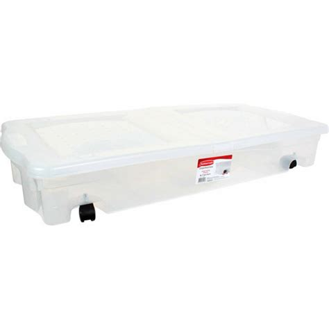 under bed storage walmart rubbermaid wheeled underbed box walmart com